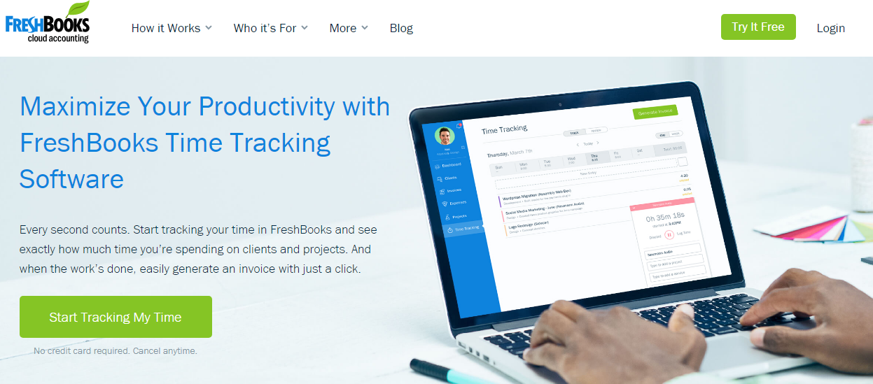 freshbooks - 21 Best Time Tracking Tools for IT Companies