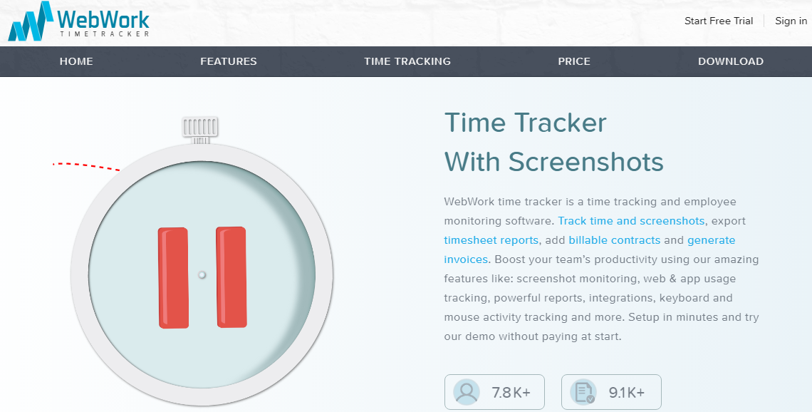 webwork tracker - 21 Best Time Tracking Tools for IT Companies