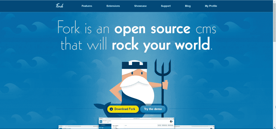 Fork CMS - Top 10 Open Source CMS Powered by Laravel and Symfony