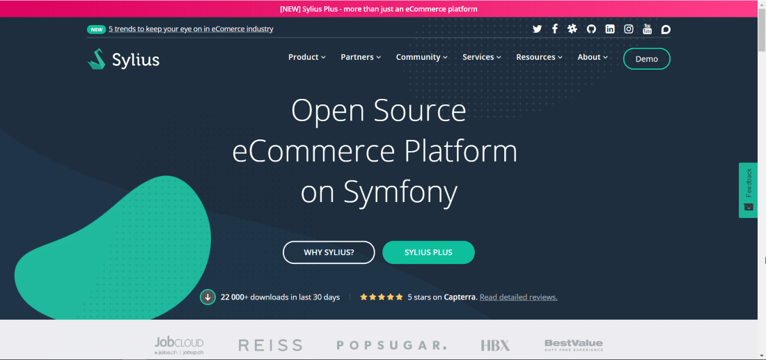 Sylius CMS - Top 10 Open Source CMS Powered by Laravel and Symfony