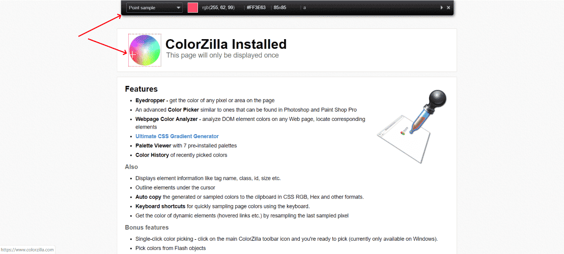 colorzilla 2 - 30 Best Chrome Extensions for Developers, Designers and Testers