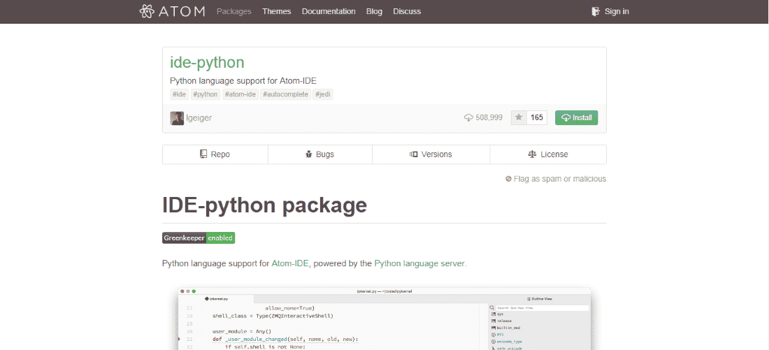 Atom Python IDE - Best Python IDEs and Code Editors for Windows, macOS and Linux