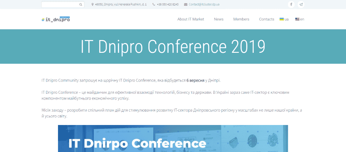 IT Dnipro Conference Site - Dnipro IT Market Review [Research & Reports]