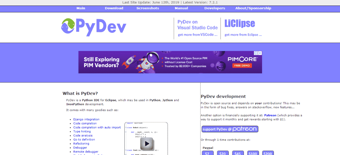 PyDev Python IDE - Best Python IDEs and Code Editors for Windows, macOS and Linux