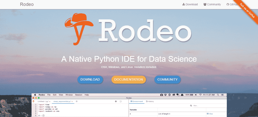 Rodeo Python IDE - Best Python IDEs and Code Editors for Windows, macOS and Linux