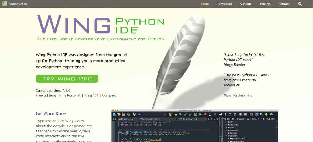 Wing Python IDE - Best Python IDEs and Code Editors for Windows, macOS and Linux