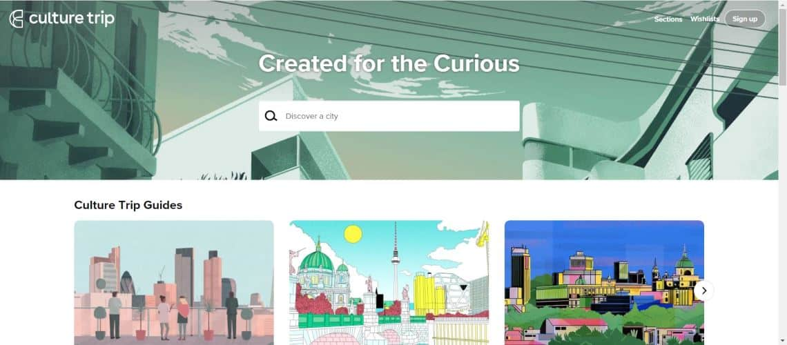 CultureTrip - The Most Interesting Travel and Tourism Startups Around the World