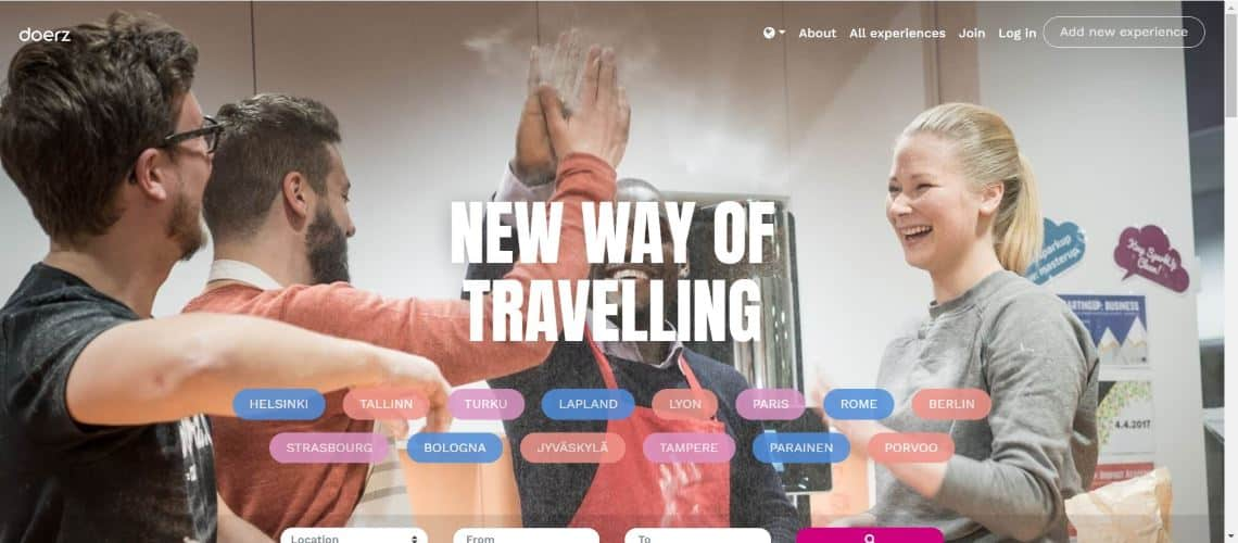 Doerz - The Most Interesting Travel and Tourism Startups Around the World