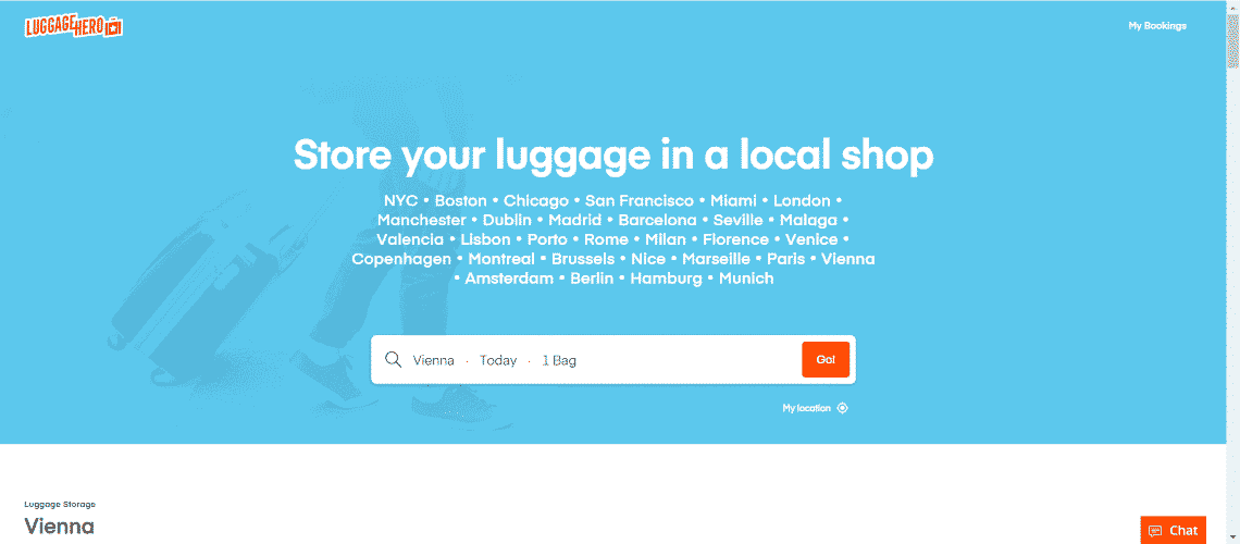 LuggageHero - The Most Interesting Travel and Tourism Startups Around the World