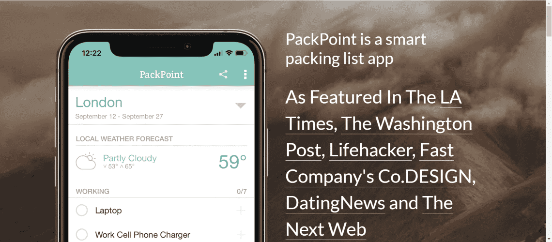 PackPoint - 30 Best Travel Apps for Android and Iphone on the Market