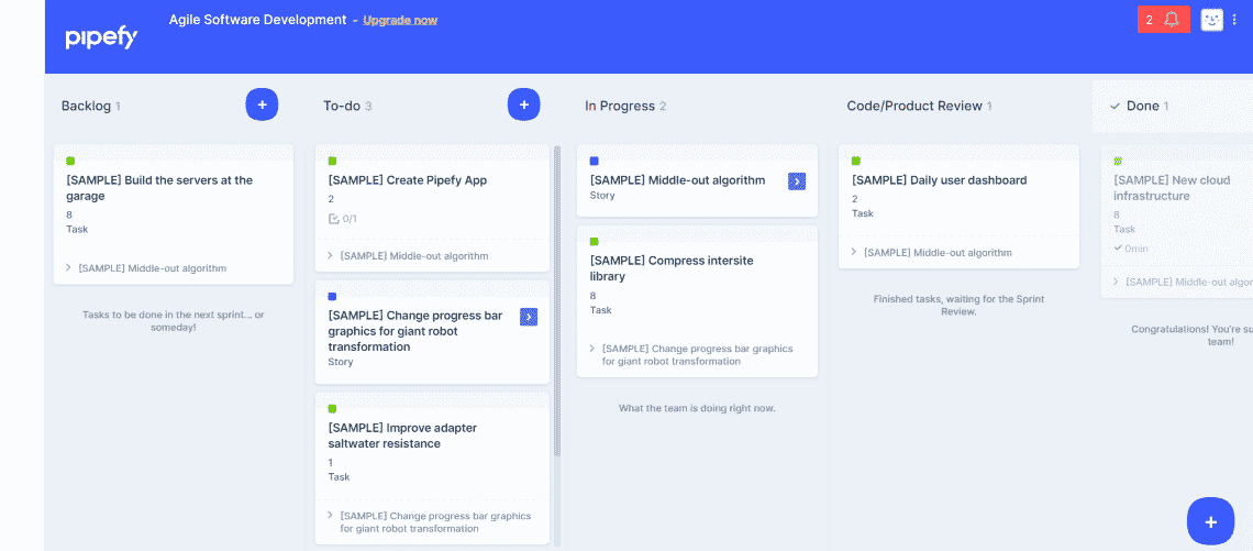 Pipefy - Free Agile Project Management Tools for Your Scrum Team